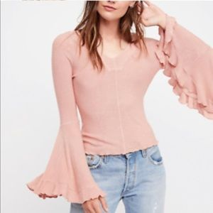 Free People Intimately So Dramatic Bell Sleeve Top
